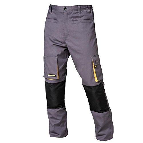 Wolfpack 15017090 Pantaloni da lavoro Grigio/Giallo lungo 42/44 M