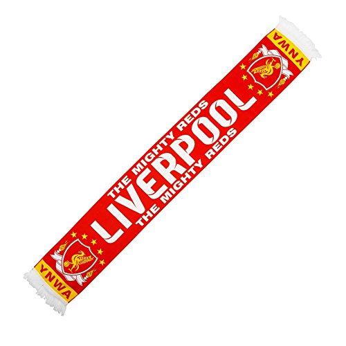 Liverpool de la Mighty rojo de punto bufanda–rojo
