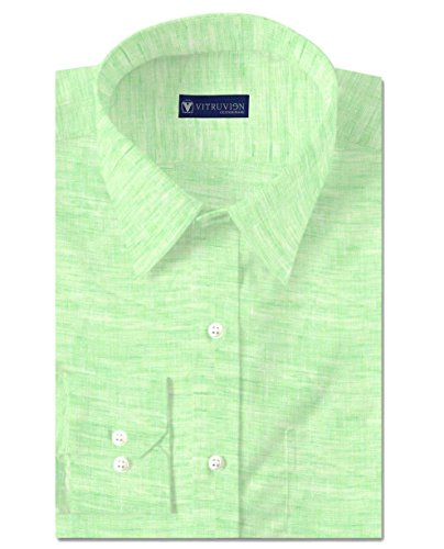 Vitruvien Men's Plain Casual shirt in Linen