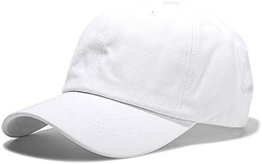 Handcuffs Stylish Elasticized-Fabric Cotton Adjustable Plain Baseball Cap (White)