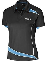 Tenis de mesa ropa: camisa Stiga descubrimientos - negro/Diva Lady tamaño cupo L