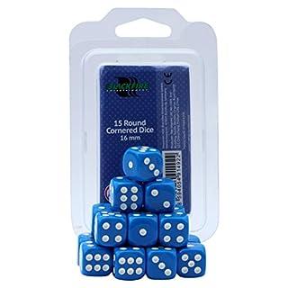 ADC Blackfire Entertainment 91492 16 mm Blue D6 Dice Set (15-Piece)