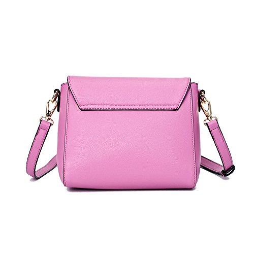 Frauen Schultertasche - PU Leder Frauen Handtasche Crossbody Taschen Damen Rucksack Mädchen Reisetasche Lila