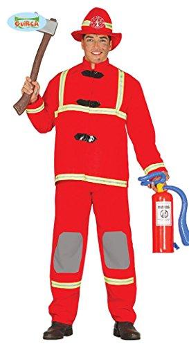 Feuerwehrmannkostüm Kostüm Feuerwehrmann für Herren Herrenkostüm Feuerwehr Firefighter M-XL, Größe:L