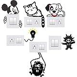 Akki World™ Switch Board Sticker, Switch Stickers, Wall Stickers, Light Switch Sticker Set of 6