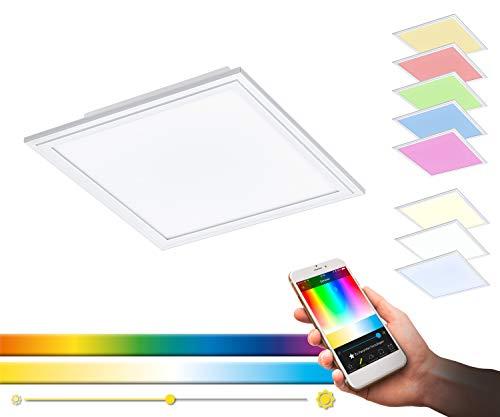 16 Watt Einbauleuchten (LED Rasterleuchte SALOBRENA-C von EGLO - Smart Home Einbauleuchte in weiß mit 16W - aus Alu und aus weißem Kunststoff - EGLO Connect Rasterleuchten mit Farbwechsel und über Fernbedienung steuerbar)