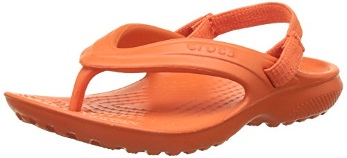 crocs Classic Flip K Cdy Pink, Unisex-Kinder Pantoffeln, Rot (Tangerine), Gr. 32-33 EU (1 Kinder UK)