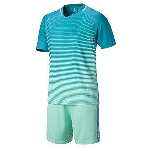 Kinder Jungen Fussball Trikots Eltern-Kind-Ausrüstung von DAYU WORLD Männer Sports Trainingstrikots Trikot und Hose (4 Farben Optional)