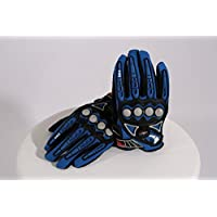 Qubeat Motorcycle gloves blue, XL Nylon plastic fabric