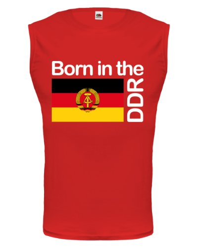 buXsbaum® Tank Top Born in the DDR Red-z-direct