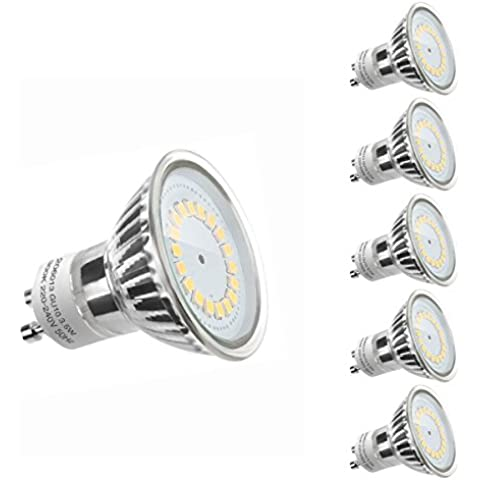 LE Bombillas LED 200060-DW-EU-5 - MR16 GU10 3,5W, equivalentes a halógenas de 50W, luz blanca diurna 6000K, pack de 5