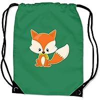 plot4u Turnbeutel Baby Fuchs Sportbeutel für Schule Sport Sporttasche Bag Base® BG10 Gymsac 8 Farben 45 x 34 cm