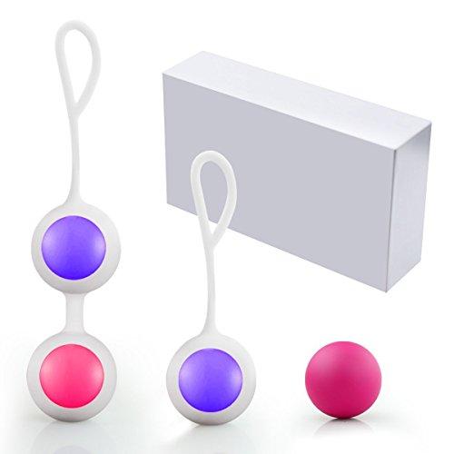Ben Wa Balls Liebeskugeln Übung Gewichte verbessern Blasenkontrolle für Frauen, PALOQUETH Liebeskugeln Übungs Set mit Premium Silikon stärken Beckenboden für Anfänger und Fortgeschrittene