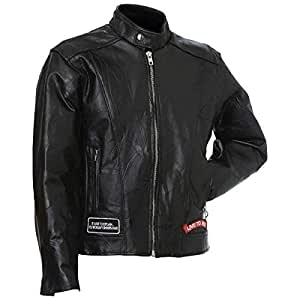 Diamond Plate cuir veste de moto-S