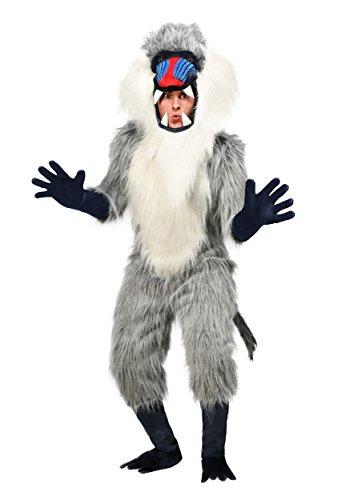 Fun Costumes Erwachsenes Pavian-Kostüm - - Pavian Kostüm