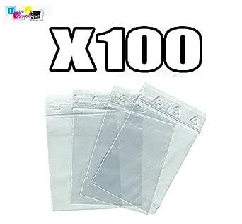 Lot 100 Sachets à Fermeture Zip Format 40 X 60 Mm 4 X 6 Cm Pochettes Qualité Alimentaire Prélèvement Aux Normes Européennes De Production