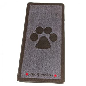 Bliss-and-Bloom-Dog-Floor-Mat-Rug-Big-Black-Paw-Grey-Design-Stop-Those-Muddy-Paws