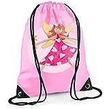Tigerlily Prints - Bolsa deportiva para chica, rosa, diseño de hada
