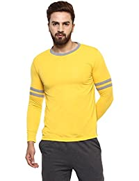 Griffel Men's Stylish Full Sleeve T-shirt with Sleeve Contrast Bones