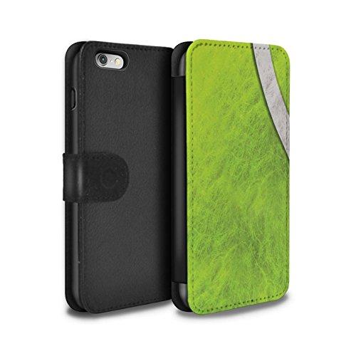 STUFF4 PU-Leder Hülle/Case/Tasche/Cover für Apple iPhone X/10 / Baseball Muster / Sport Bälle/Ball Kollektion Tennis
