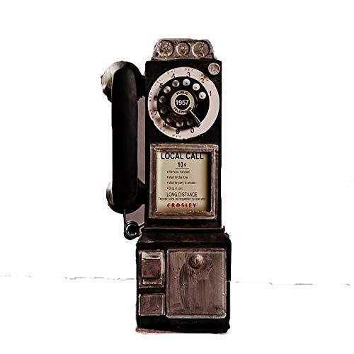 ZHZX Telefonskulptur, Fotografie-Requisiten im Vintage-Loft-Stil, lichtbeständig und langlebig für das Arbeitszimmer im Wohnzimmer -