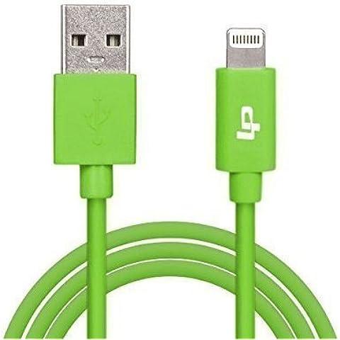 LP Apple Lightning Cable de Cargador, Sincronización con USB 2.0 (3.3 Pies/1M, 8 pin), Compatible con iPhone 6s/6/6Plus/5s/5c/5, Cable de Datos Micros USB para iPad 4/Air/Mini/Pro, iPod Touch5/Nano7, Verde [Certificación Apple MFI]