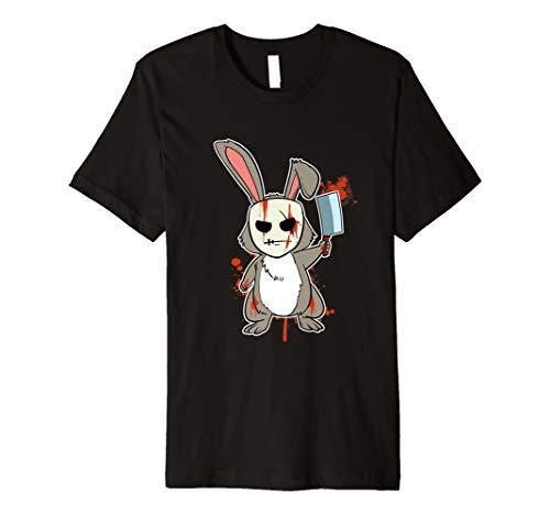 Lustiges Psycho Hase T-Shirt Gruseliges Killer -