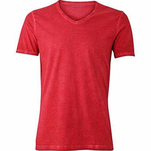 JAMES & NICHOLSON Herren T-Shirt, Einfarbig rouge chili