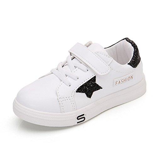 Chaussures Bébé Binggong Chaussures Enfants Infant Kids Garçons et Filles Star Plate Patch Leather Running Chaussures Casual