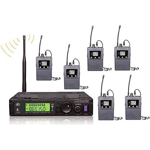 Gowe 6personale sistemi 1pc Trasmettitore 6ricevitori Stereo Wireless sistema monitor in Ear auricolari stereo per On Stage Monitor