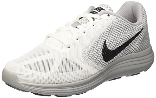 Nike Revolution 3, Scarpe da Corsa Uomo Bianco (White/Mtlc Hematite/Wolf Grey/Black)