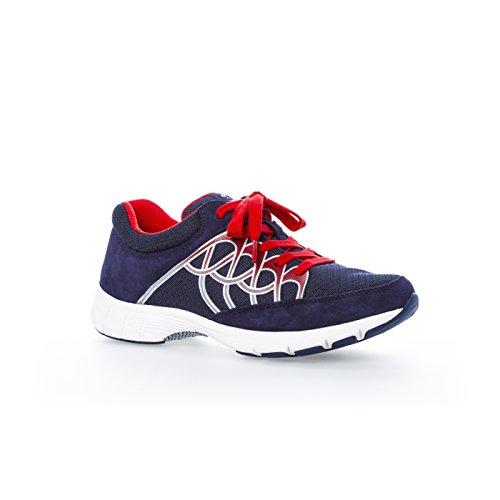 Mesdames Sneaker Gabor sports 64.350.43 gris / glace / argent Bleu