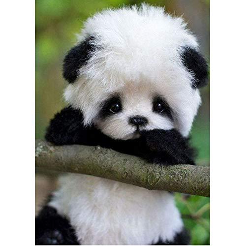 GYYNR 5d DIY Diamant malerei niedlichen Panda Tier kreuzworträtsel Stickerei voller diamanten Strass Dekoration Kinder Geschenk 30 * 40 cm