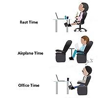 Portable Travel Footrest Flight Carry-on Foot Rest Office Feet Rest Foot Hammock(Black)