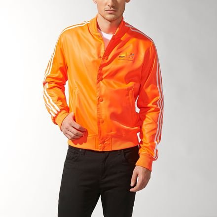 Adidas X, Motiv Pharrell Williams Orange Track Jacket Gr. M