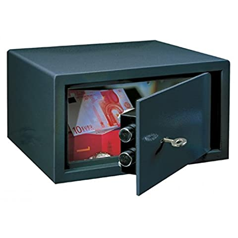 Rottner Saturn LE17 £1000 Cash-Rated Fire-Resistant Key Lock Safe for Home or Office – Double-Bit Safety Lock with Strong Locking 18mm Bolts – Affordable Small Compact Safety Deposit