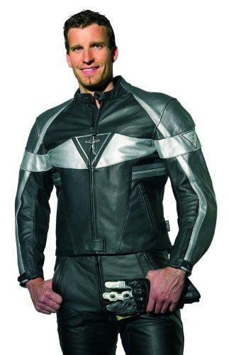Racer Corium Lederjacke, Schwarz-Silber, Größe 66 Racer Jacke