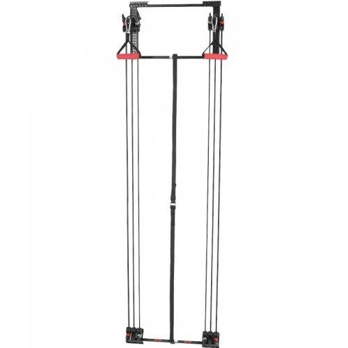 GORILLA SPORTS® Schlingentrainer-Set zur Türbefestigung - inkl. Handgriffe, Fußschlaufen, Trizeps-Stange und Bänder