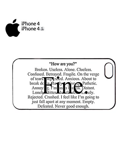 Everything is Fine Emotional Mobile Cell Phone Case Cover iPhone 6 Plus Black Noir
