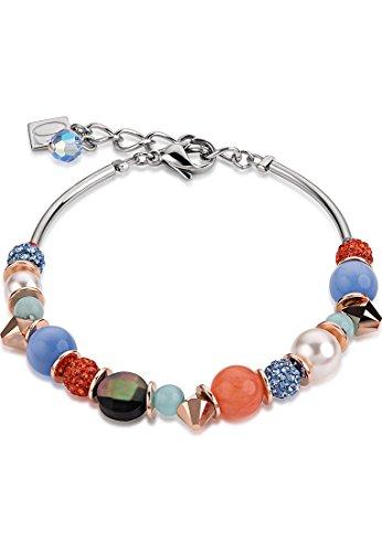 Coeur de Lion Damen-Armband Edelstahl Perlmutt One Size, orange