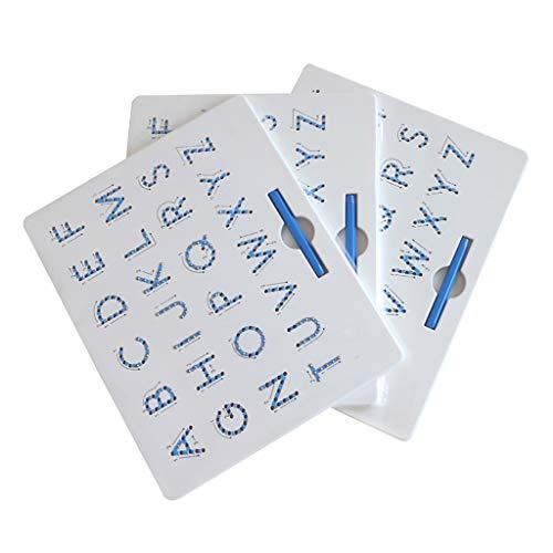 Luccase Zahlen Buchstaben Magnettafel für Kinder-Lernspielzeug Magnetic Balls Tablet,Digitale Magnettafel Magnetische Kugel-Magnettafel für pädagogisches Spielzeug für Kinder (Colour -B) (Magnetische Kugeln Blau)