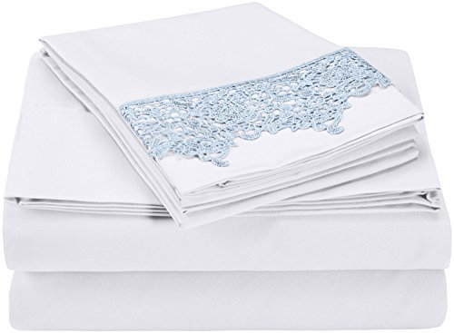 super-soft-light-weight-100-brushed-microfiber-king-wrinkle-resistant-white-4-piece-sheet-set-with-l