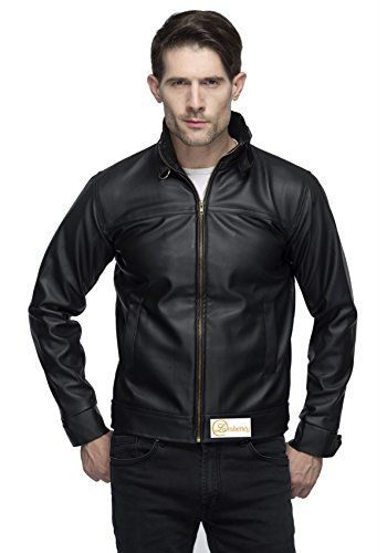 Lambency Men's PU Black Biker Jacket