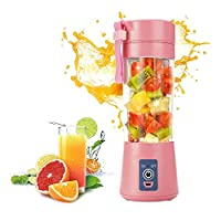 380ml Portable Juicer Electric USB Rechargeable Smoothie Blender Machine Mixer Mini Juice Cup Maker fast Blenders food processor (Blue)