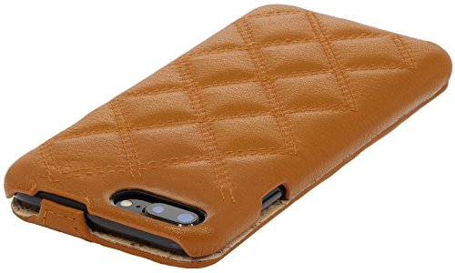 StilGut UltraSlim Case Hülle Leder-Tasche für iPhone 8 Plus & iPhone 7 Plus. Dünnes Flip-Case aus Echtleder für das Original iPhone 8 Plus & iPhone 7 Plus (5,5 Zoll), Schwarz Kupfer Nappa - Karat