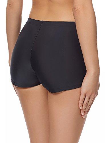 Merry Style Donne Pantaloncini da Bagno Modello S1LL Nero/Bianco