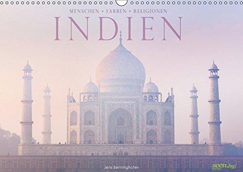 Indien: Menschen • Farben • Religionen (Wandkalender 2018 DIN A3 quer): 12 farbenprächtige Bilder aus Indien (Monatskalender, 14 Seiten ) (CALVENDO Orte) [Kalender] [Apr 01, 2017] Benninghofen, Jens