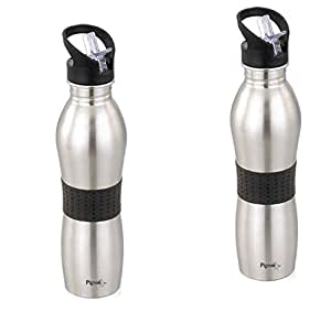 Pigeon Stainless Steel Playboy Water Bottle 700ml (Set of 2), Silver