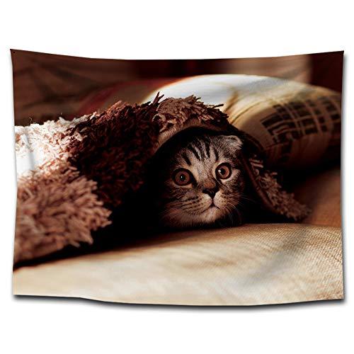 (ZhenFa Lustige Katze drucken Wandteppich hängenden Tuch Strandtuch Heimat hängen Gemälde dekorative Tischdecke Hintergrund, Tuch)