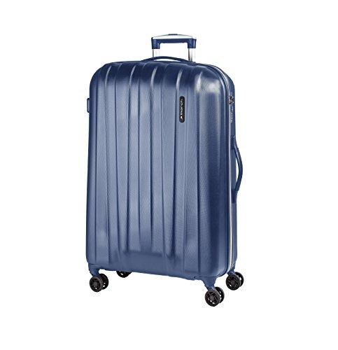 March - Koffer / Trolley - Rocky - 4 Doppel-Rollen - S - Dark Lake Grey - Blau